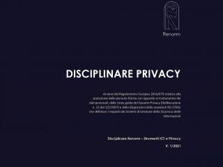 Disciplinare ReNorm: Strumenti ICT e Privacy